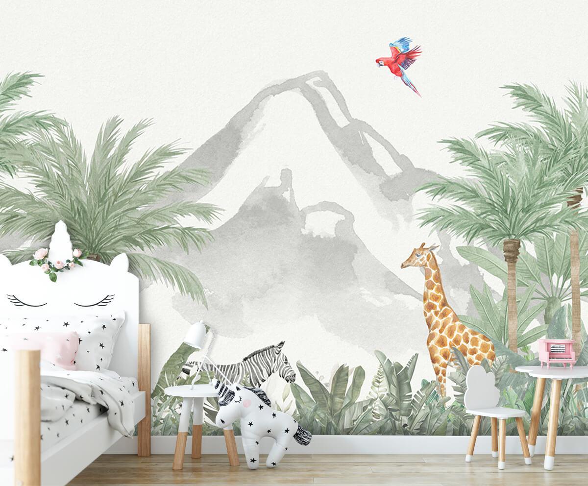 Jungle behang Dieren in een jungle 8
