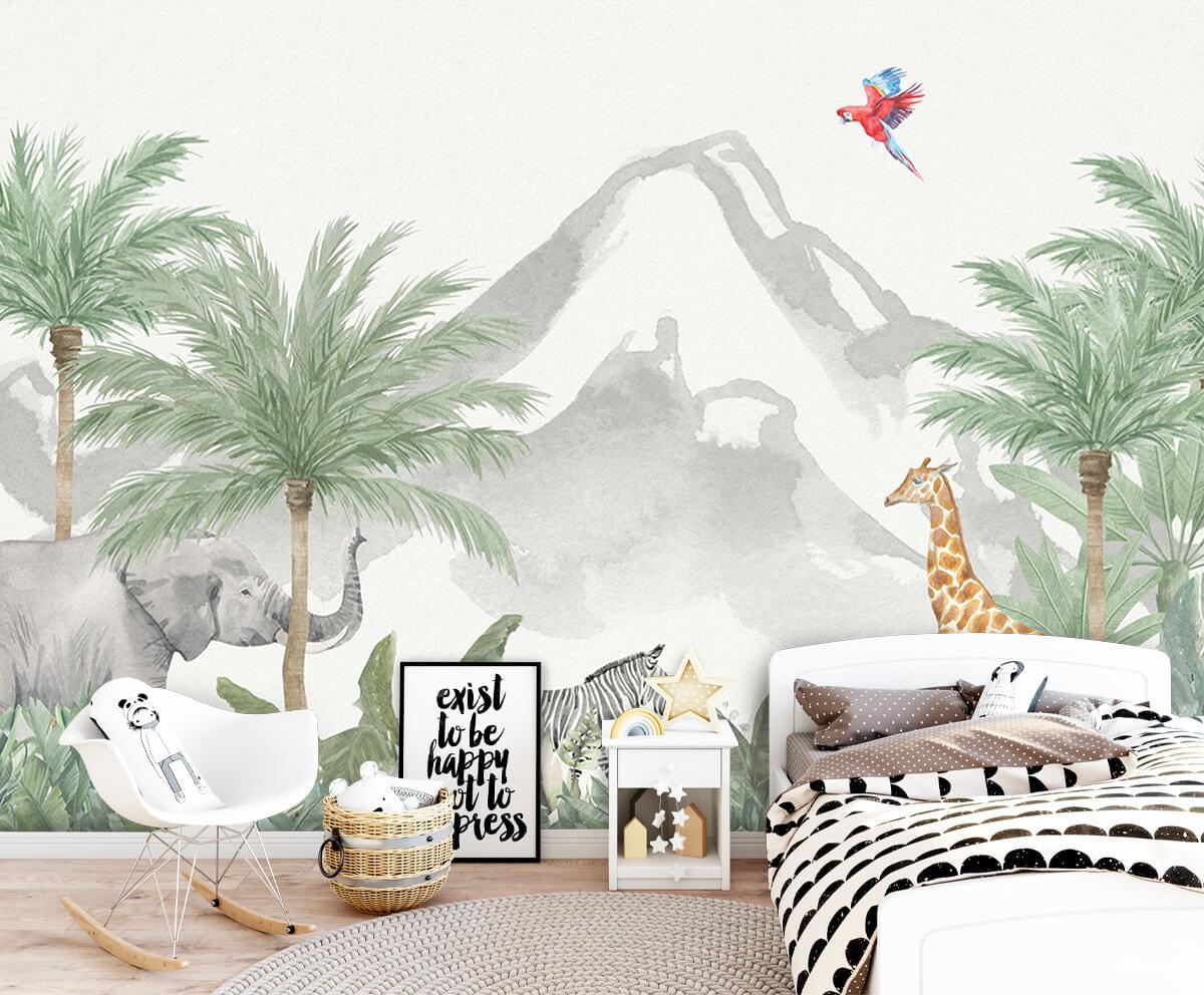Jungle behang Dieren in een jungle 9