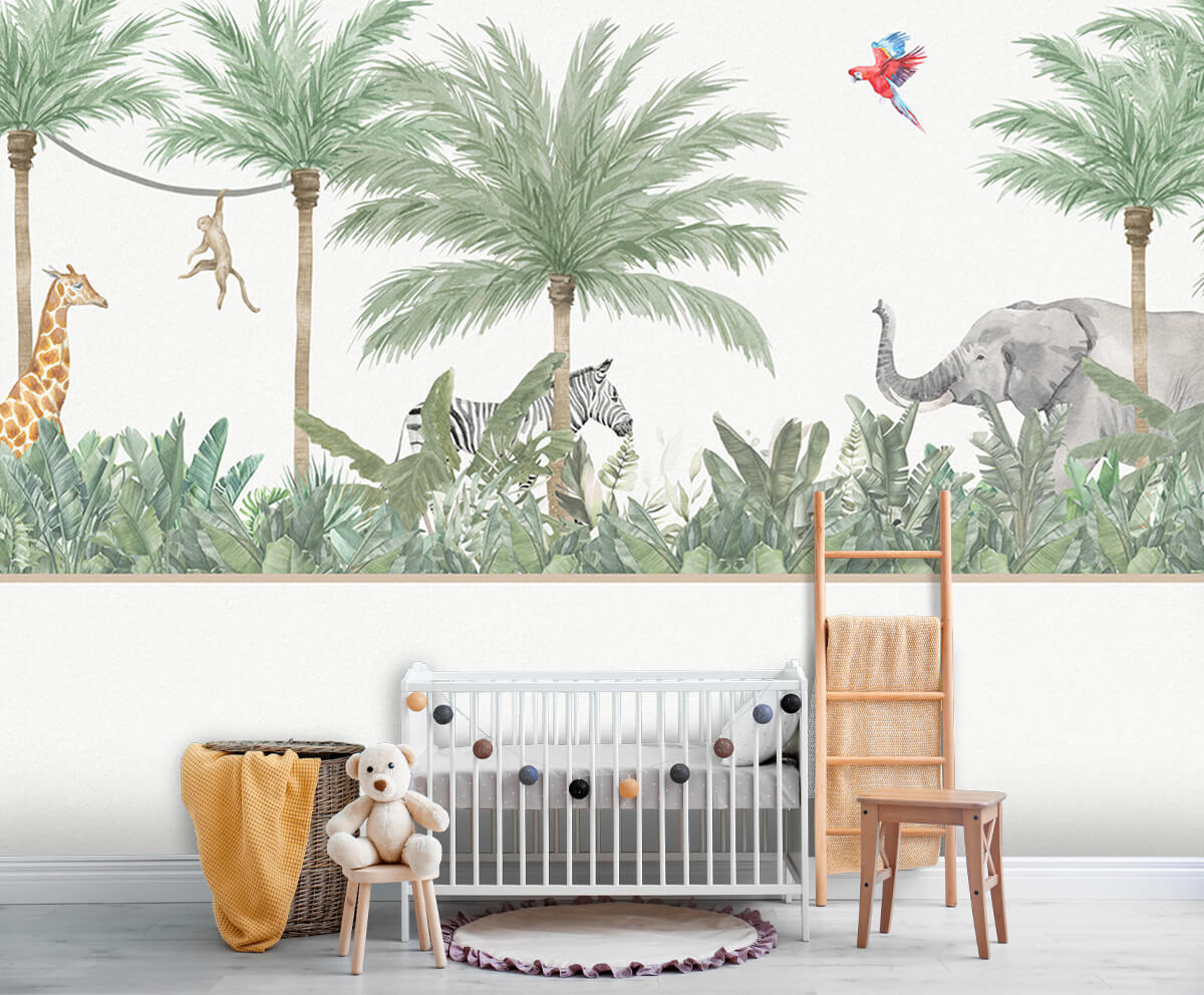 Jungle behang Dieren en palmbomen 6