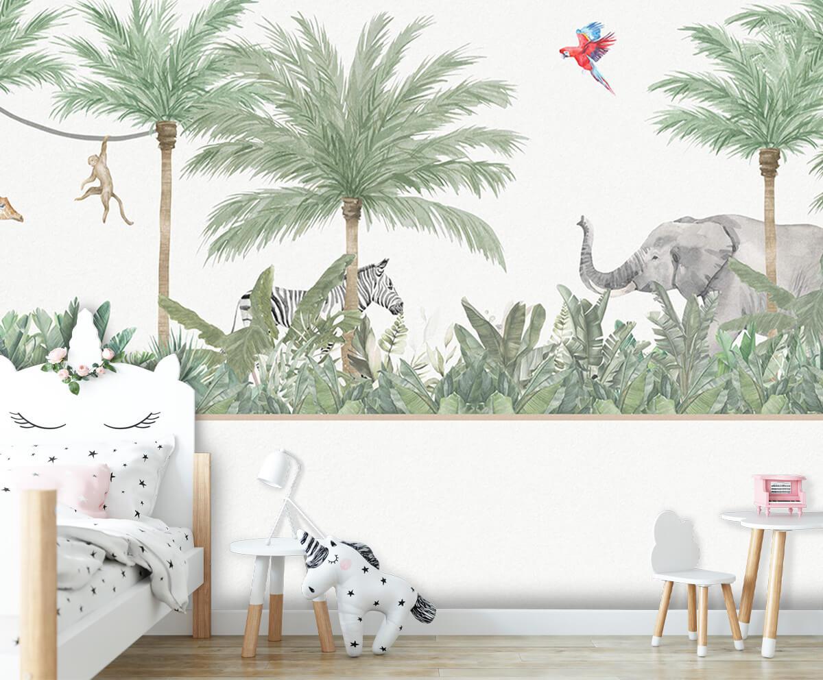 Jungle behang Dieren en palmbomen 8