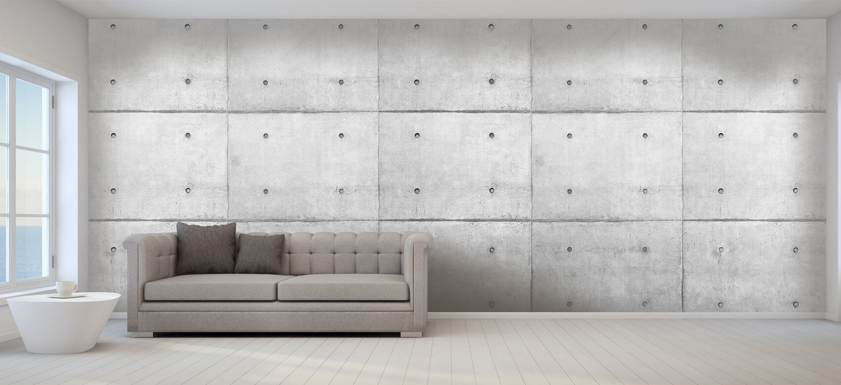 Grijze betonnen platen 1