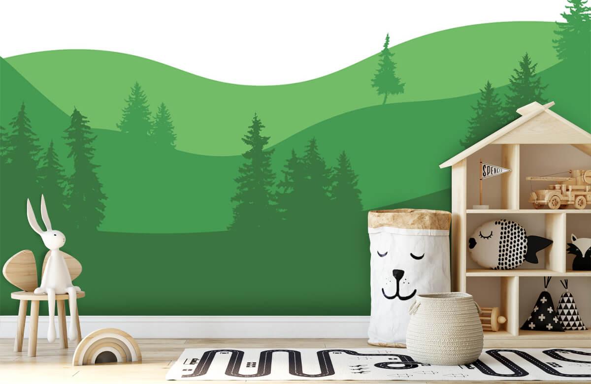 Landschap behang Landscape Groen 5