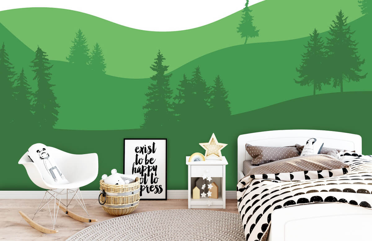 Landschap behang Landscape Groen 9