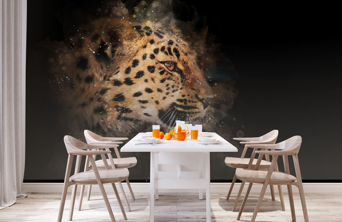 luipaard Geschilderde luipaard 1