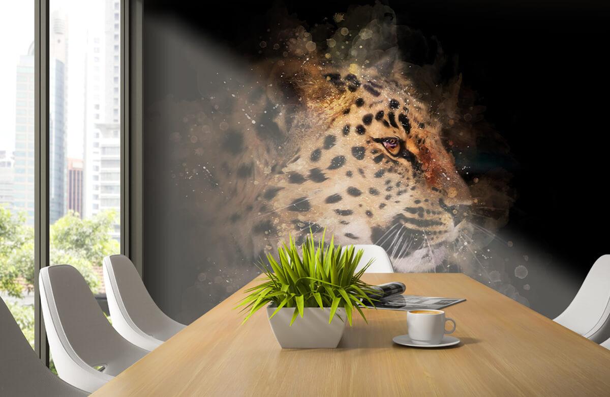 luipaard Geschilderde luipaard 2