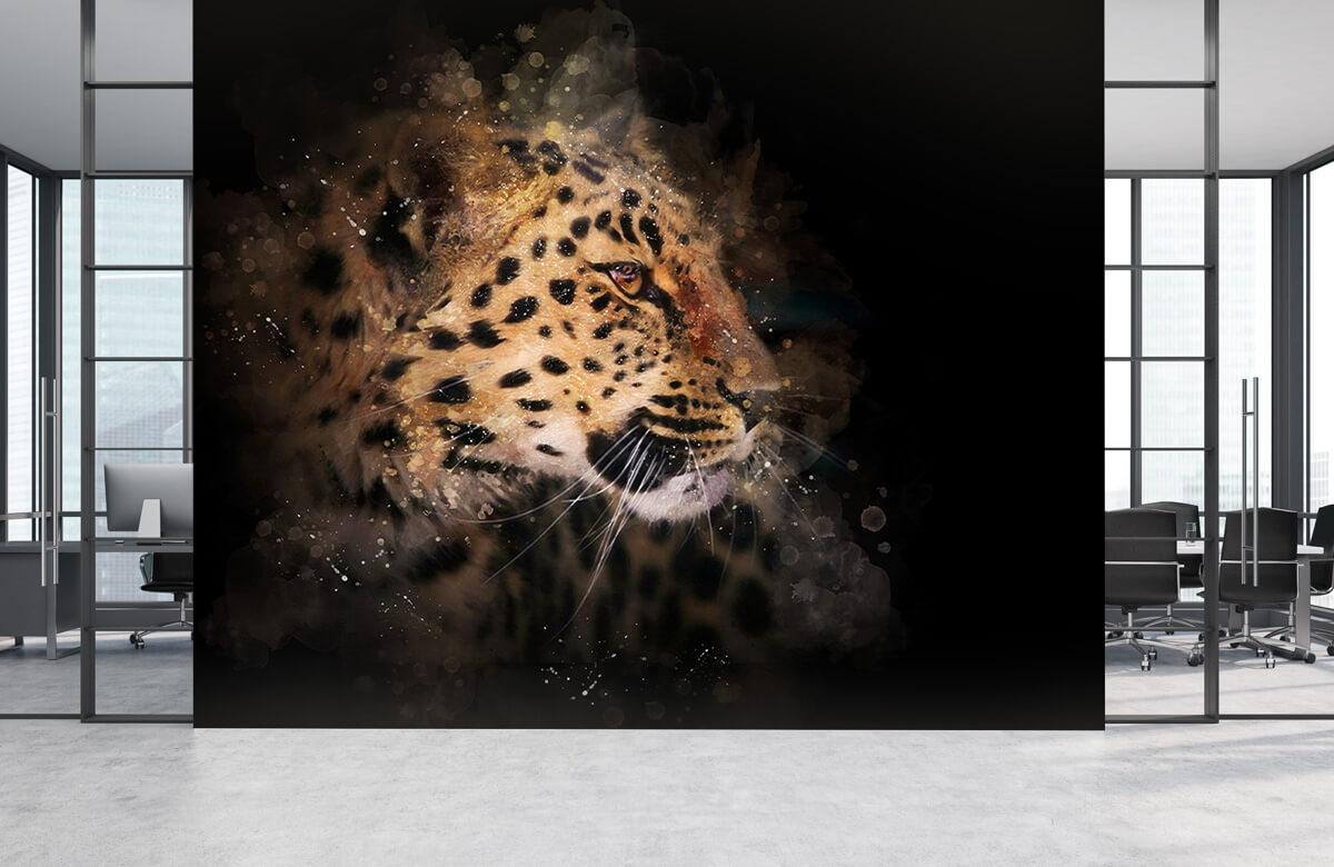 luipaard Geschilderde luipaard 3