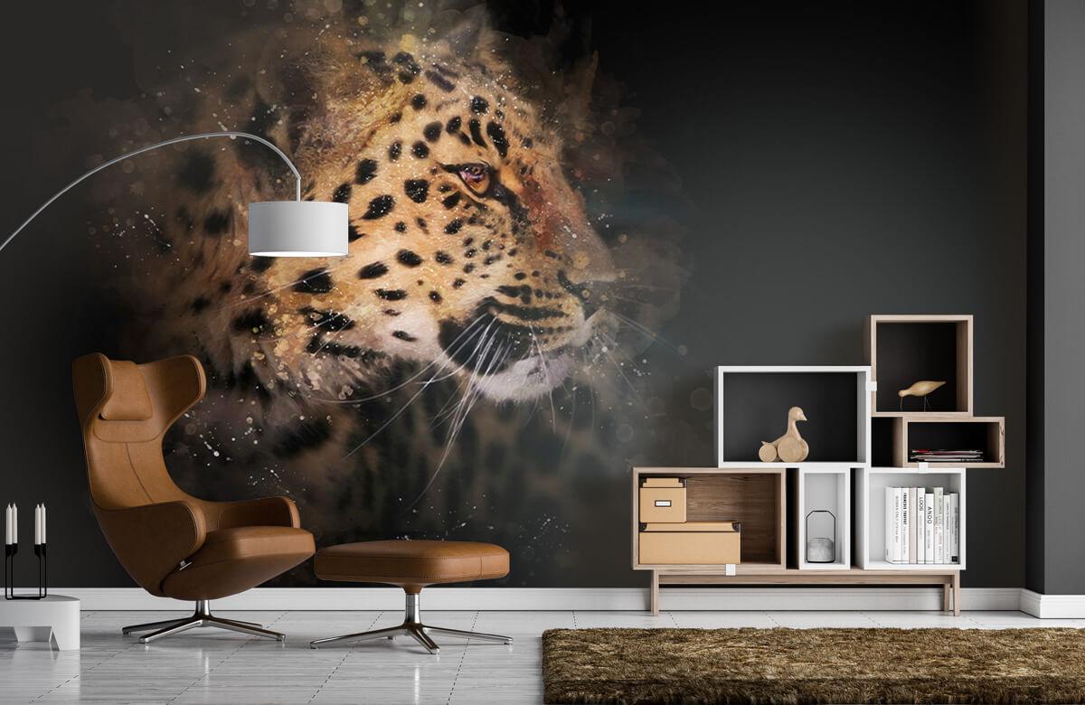 luipaard Geschilderde luipaard 4