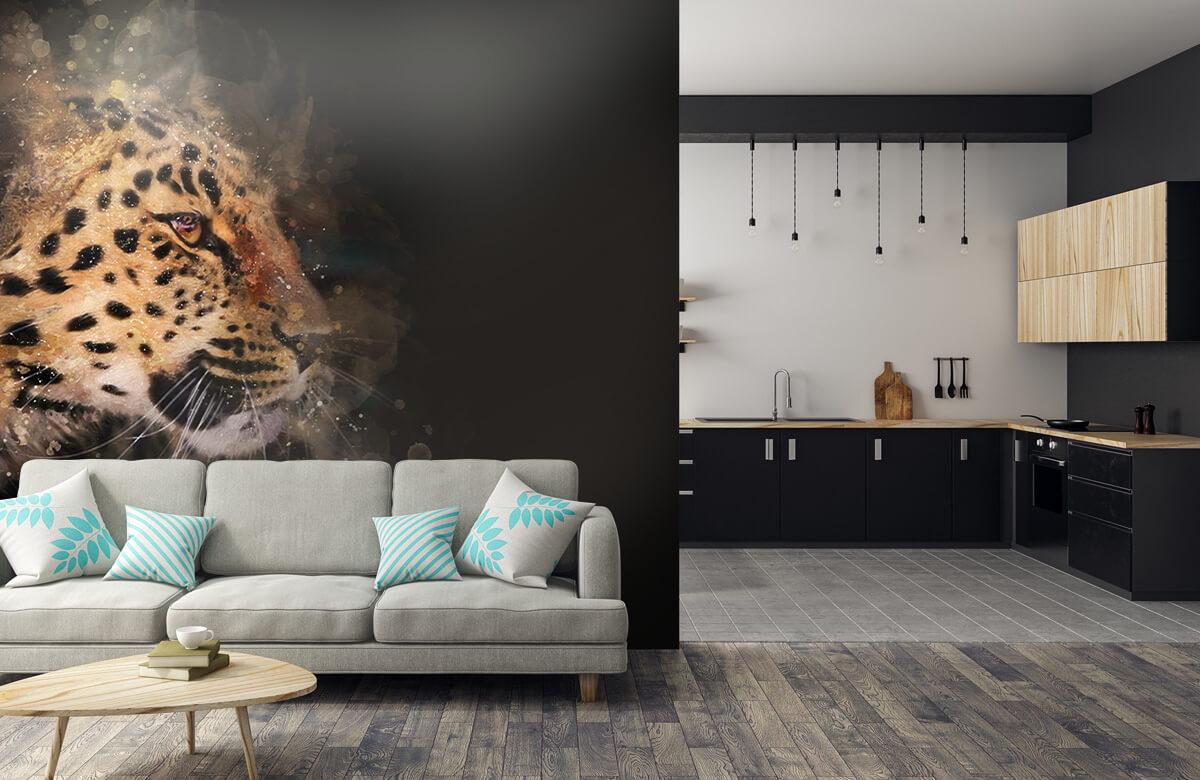luipaard Geschilderde luipaard 5