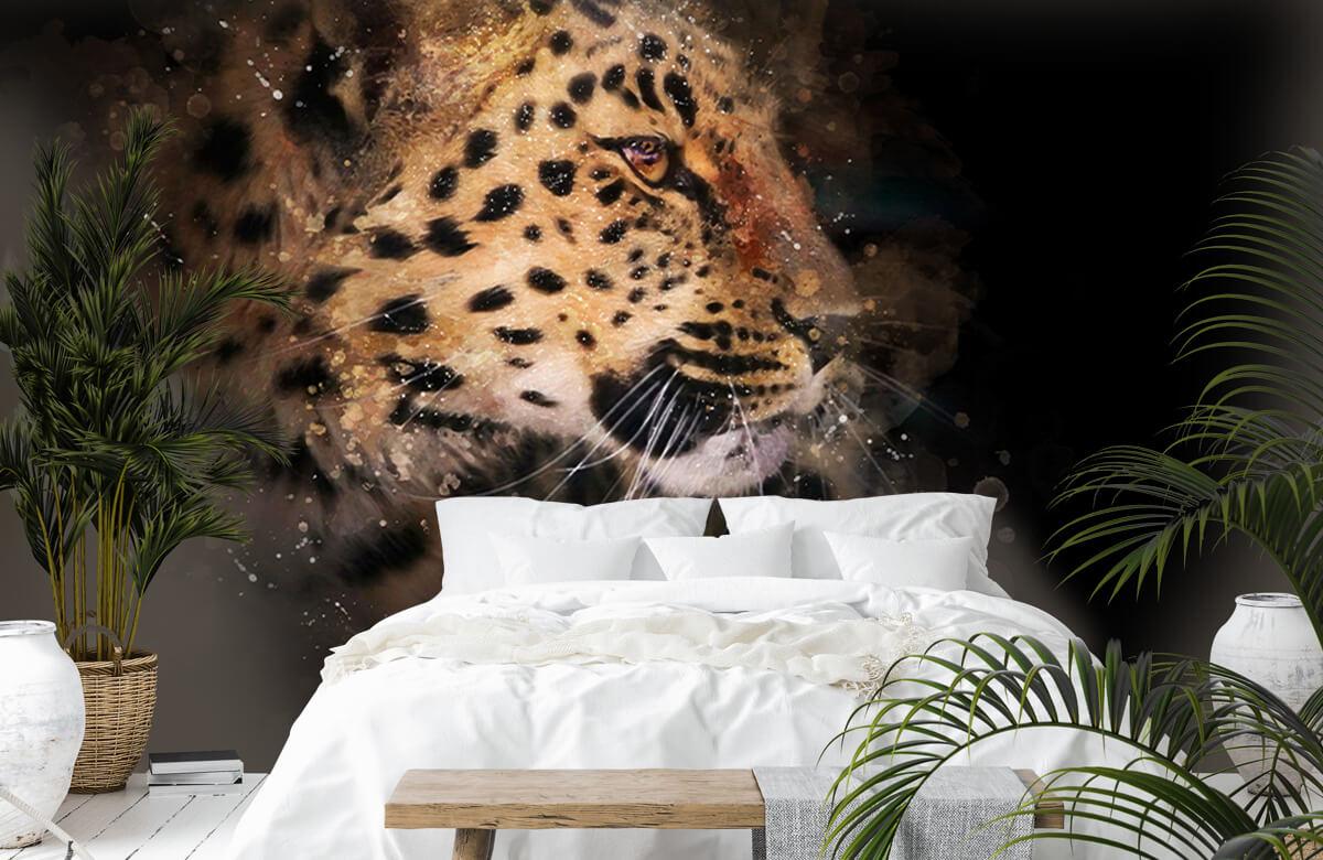 luipaard Geschilderde luipaard 6