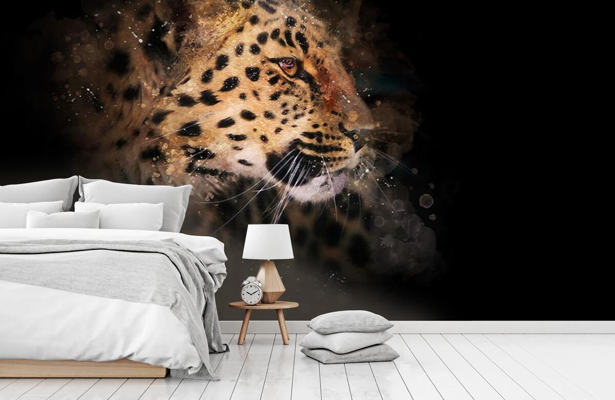 luipaard Geschilderde luipaard 7