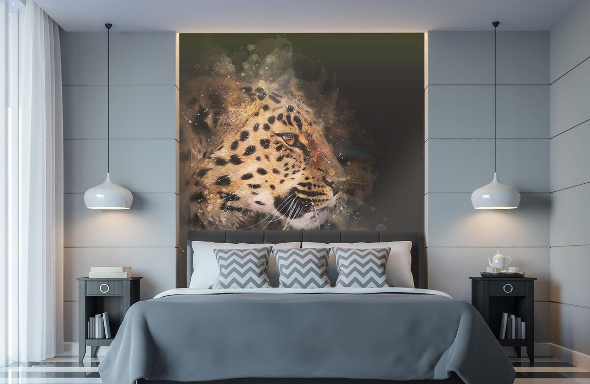 luipaard Geschilderde luipaard 8