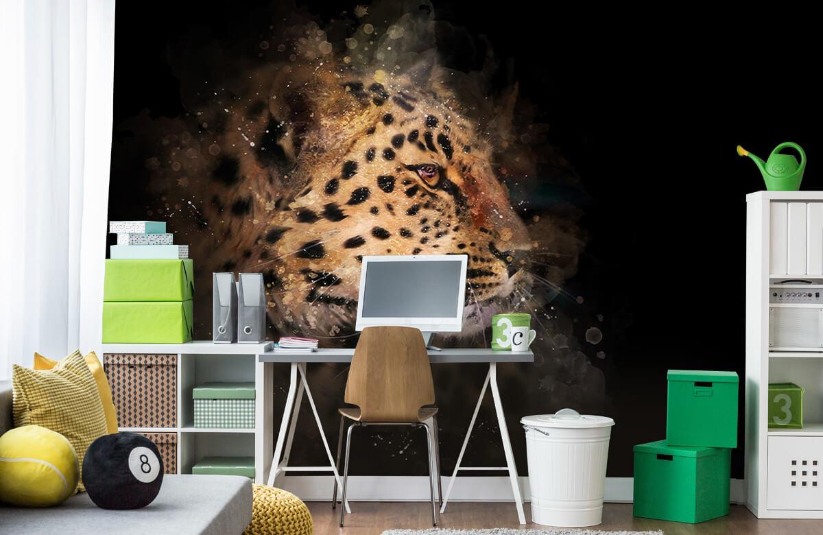 luipaard Geschilderde luipaard 9