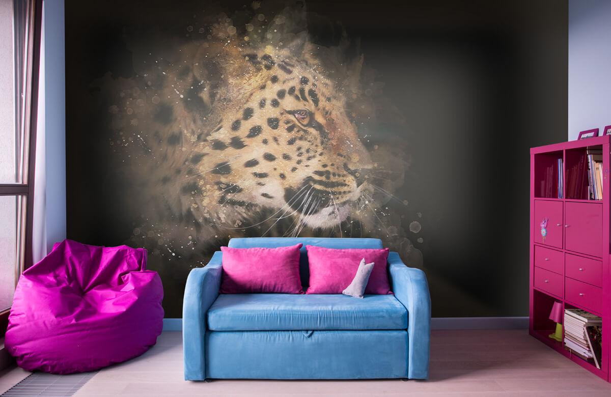 luipaard Geschilderde luipaard 10