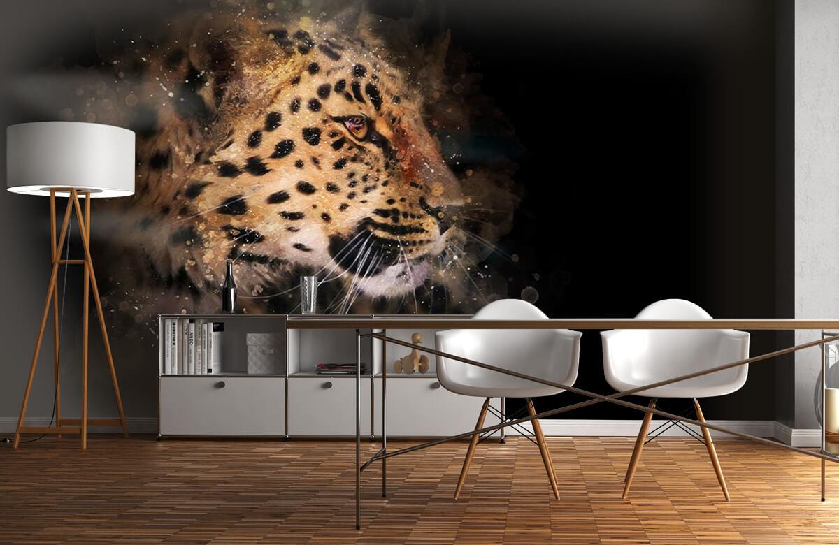 luipaard Geschilderde luipaard 11