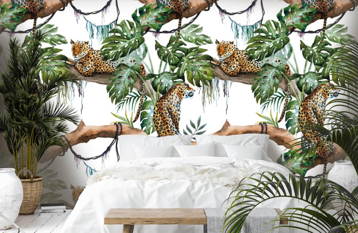 luipaarden Waterverf luipaarden 1