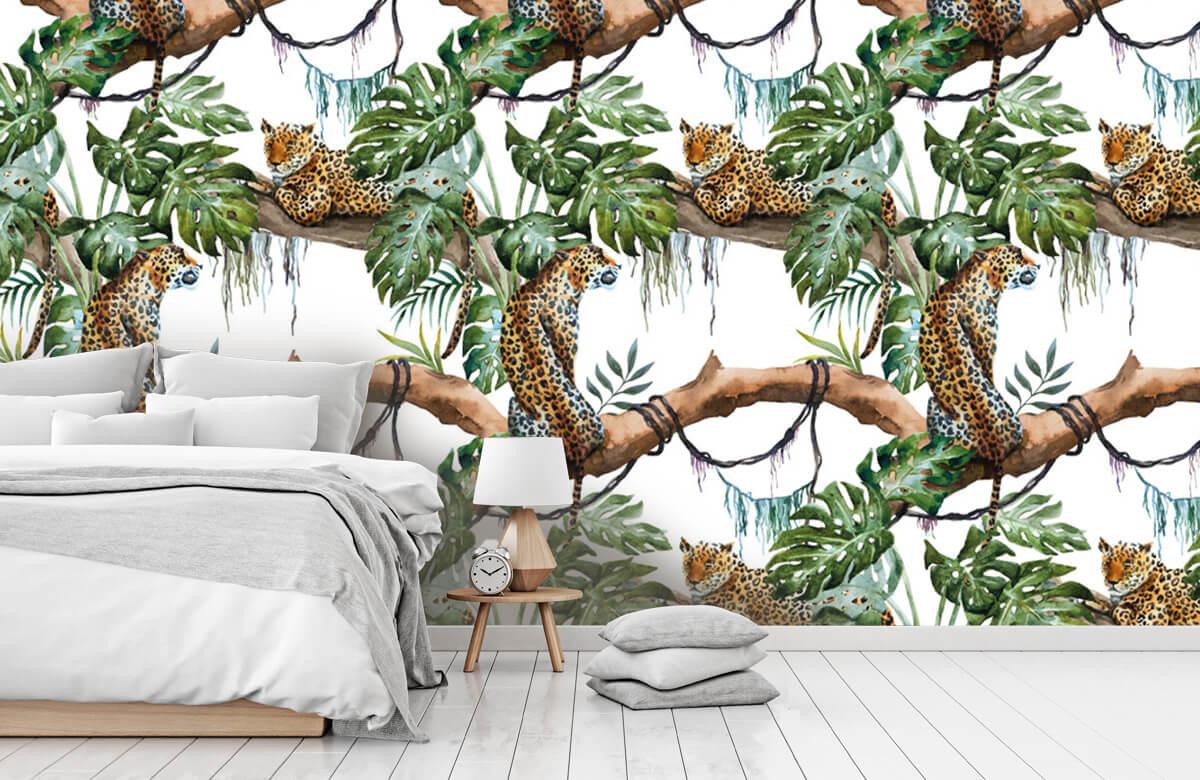 luipaarden Waterverf luipaarden 7