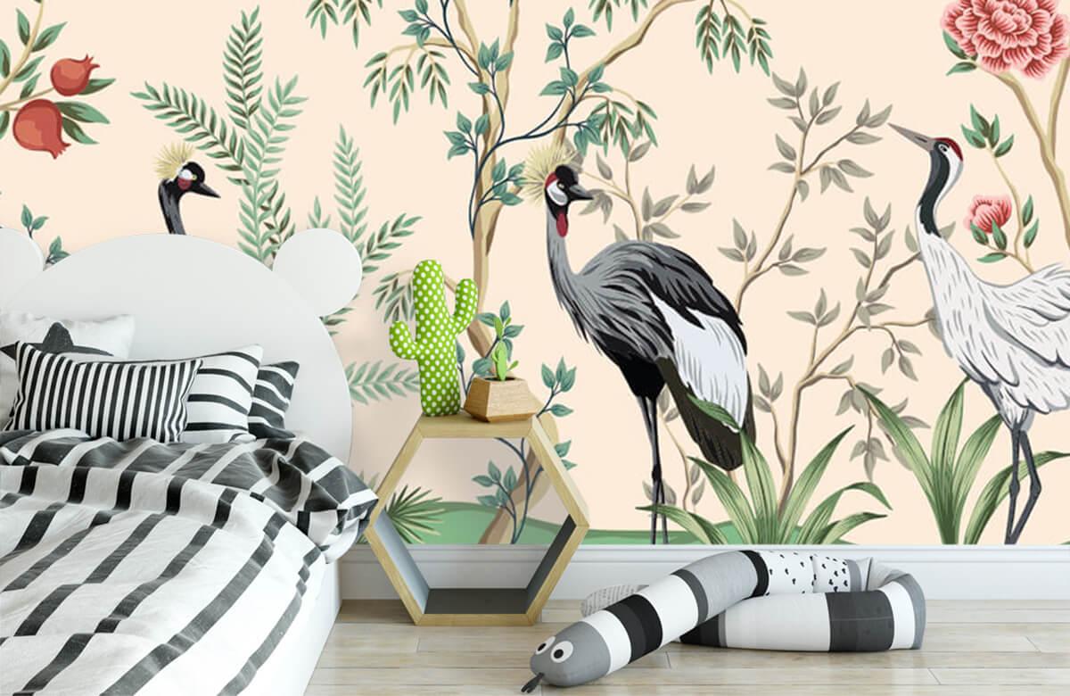 Illustratie van kraanvogels 2
