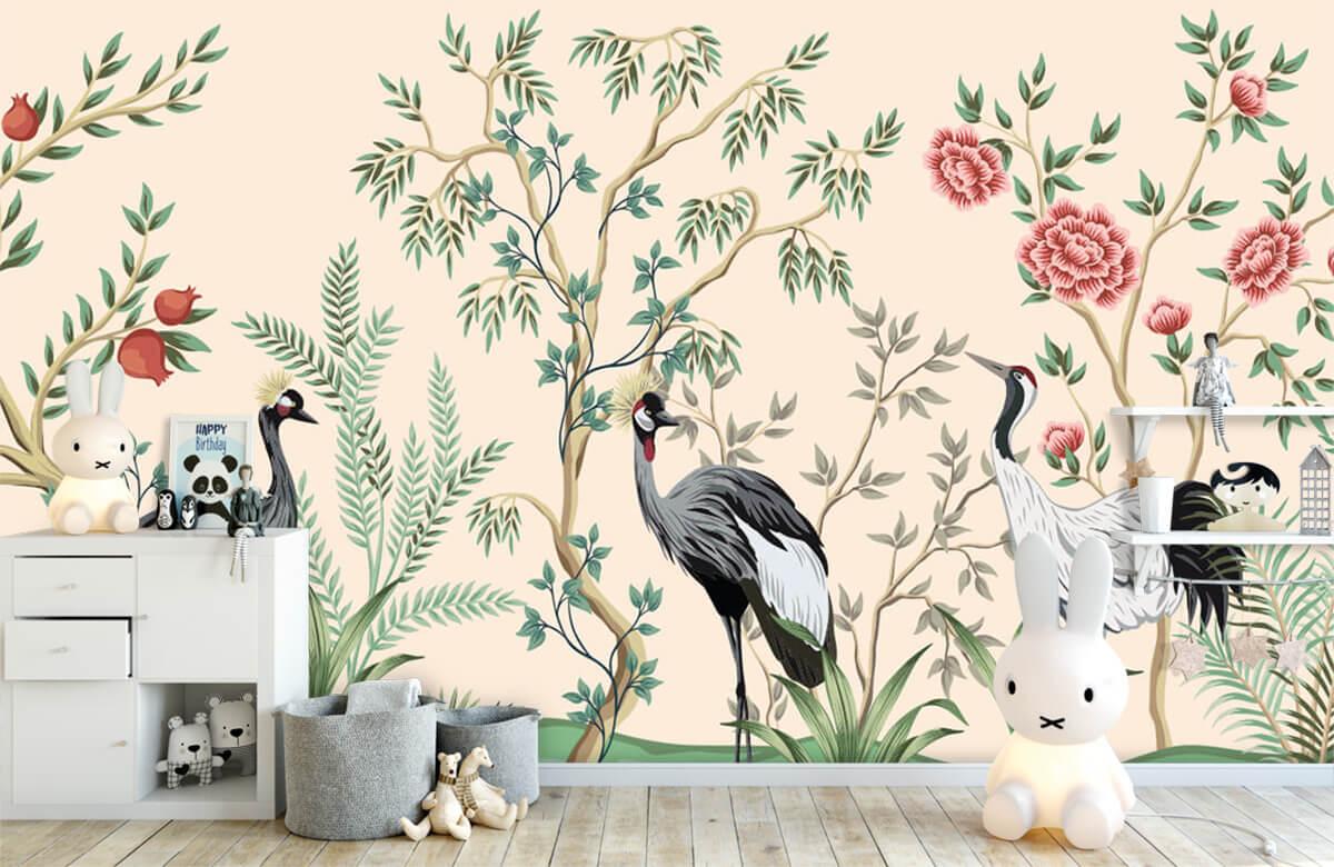 Illustratie van kraanvogels 4