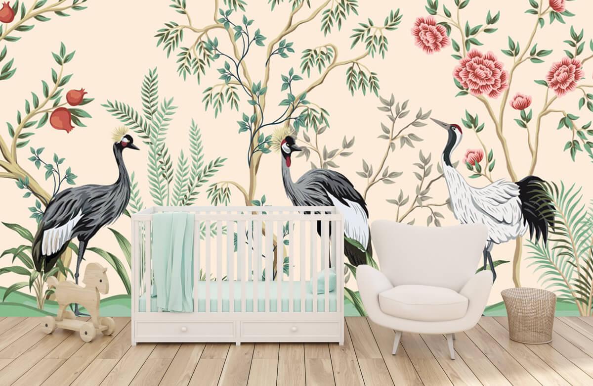 Illustratie van kraanvogels 5