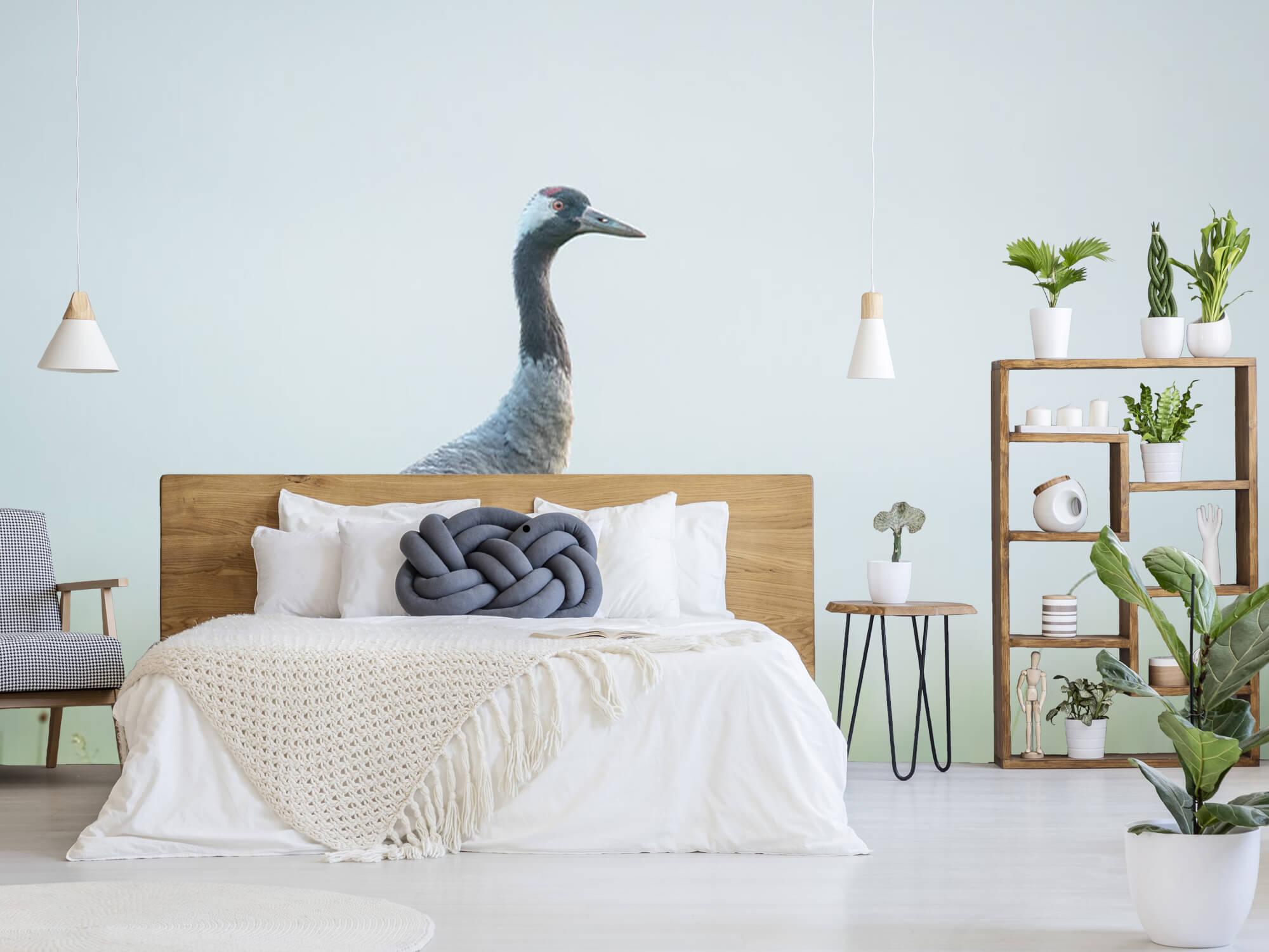 Kraanvogel in de ochtendmist 5