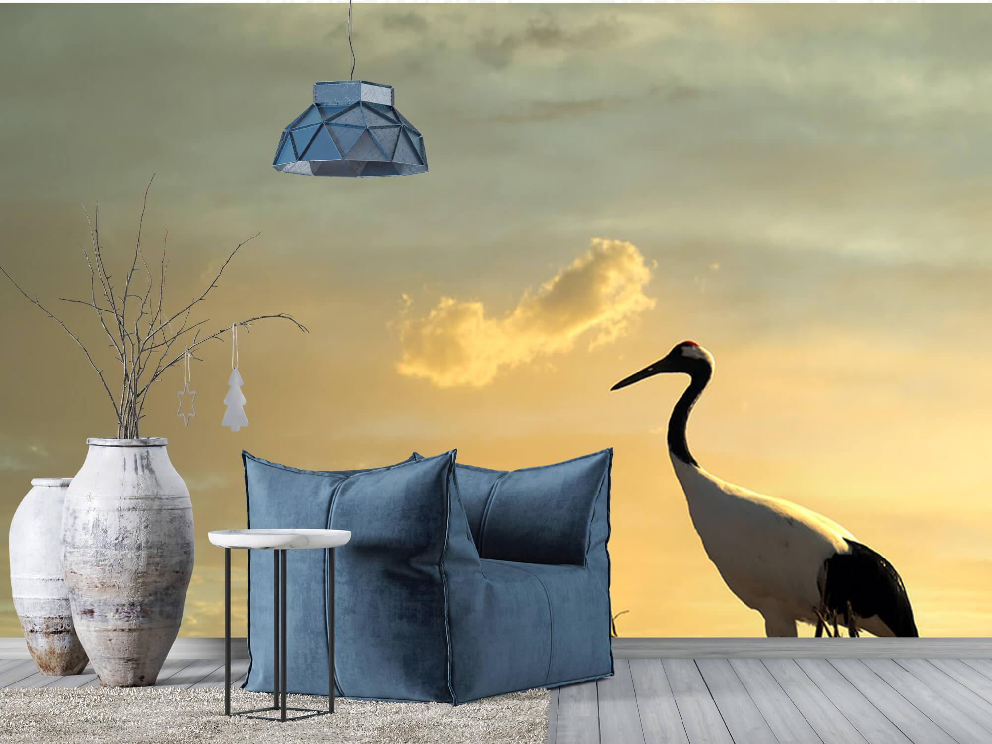 Kraanvogel in een veld 2