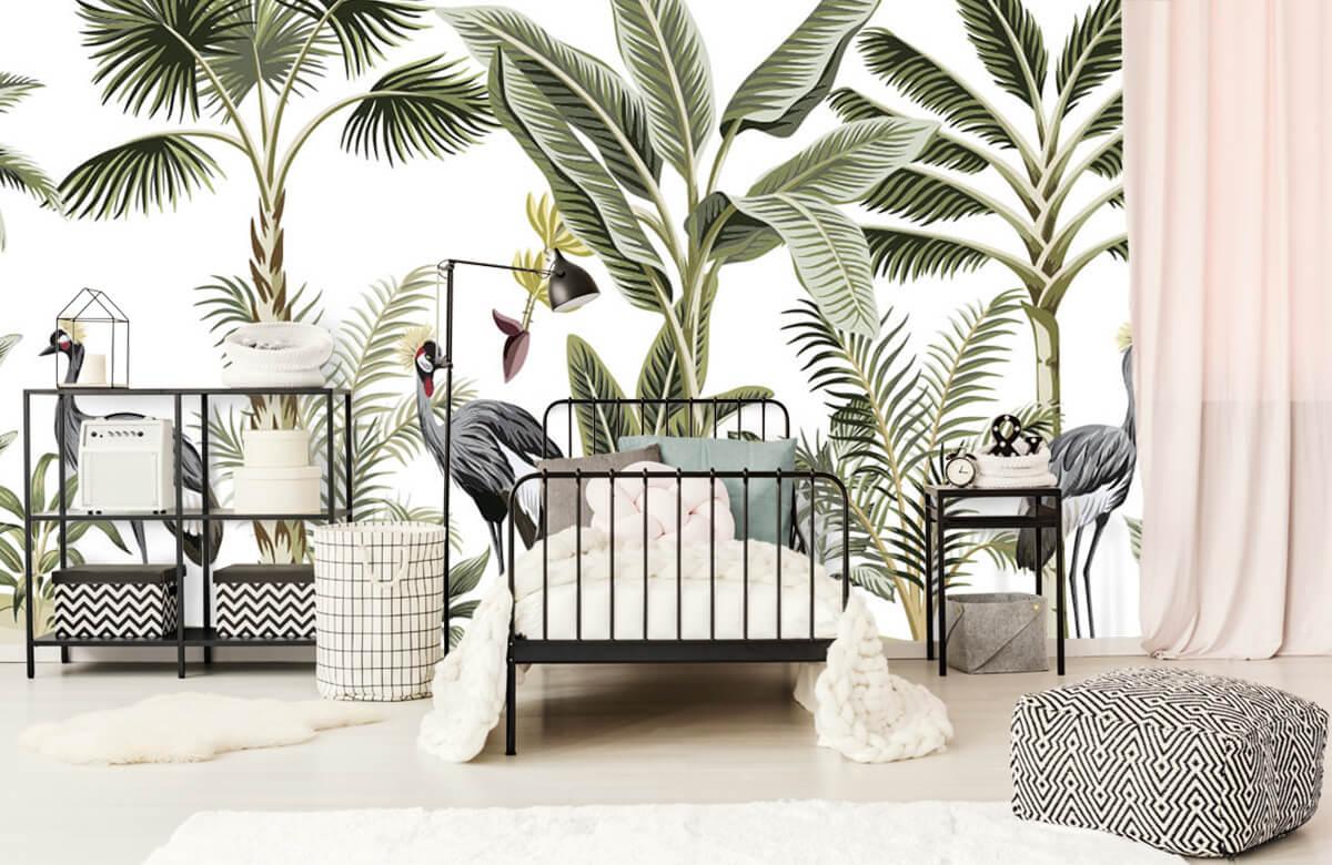 pattern Kraanvogels in de jungle 1