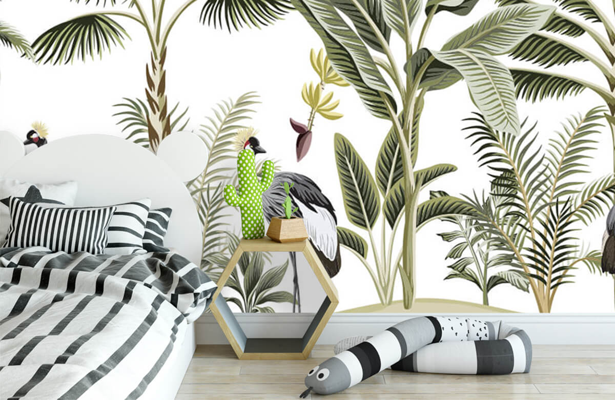 pattern Kraanvogels in de jungle 2