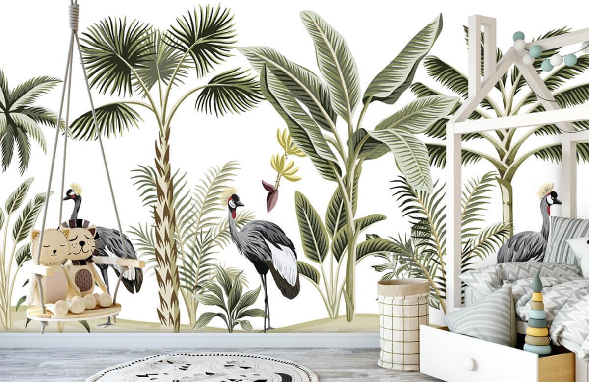 pattern Kraanvogels in de jungle 3