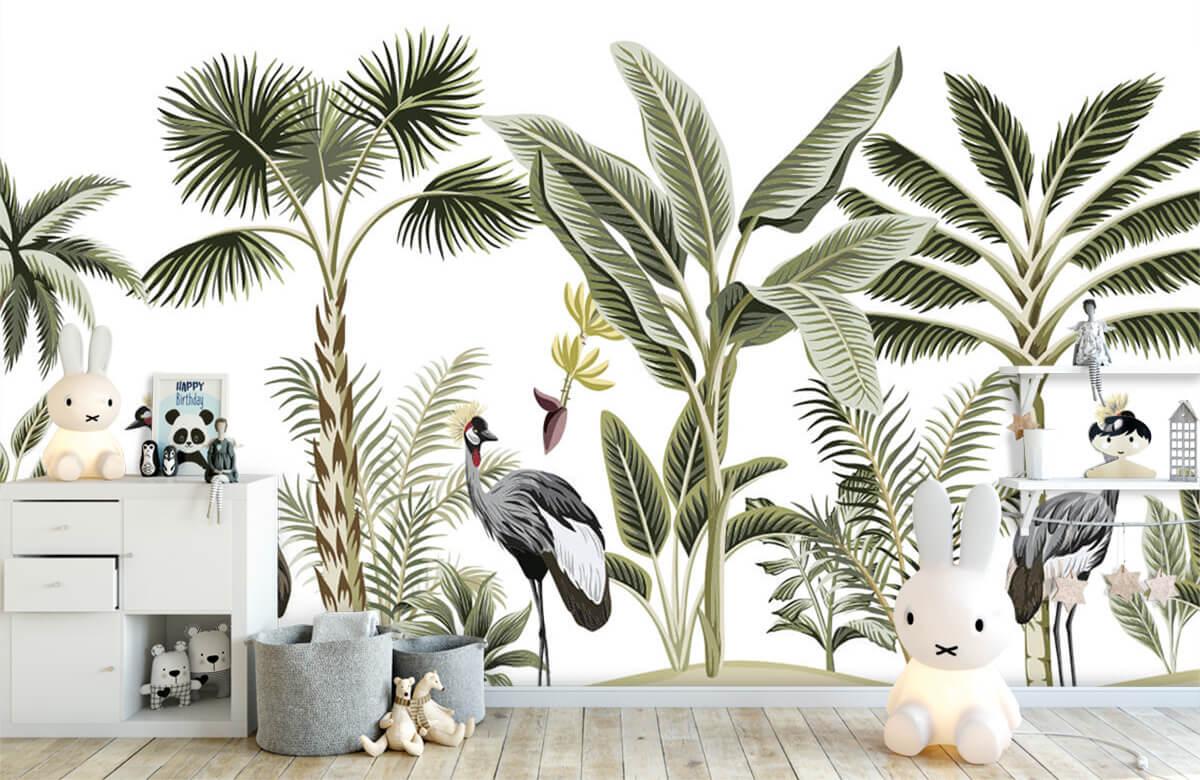 pattern Kraanvogels in de jungle 4