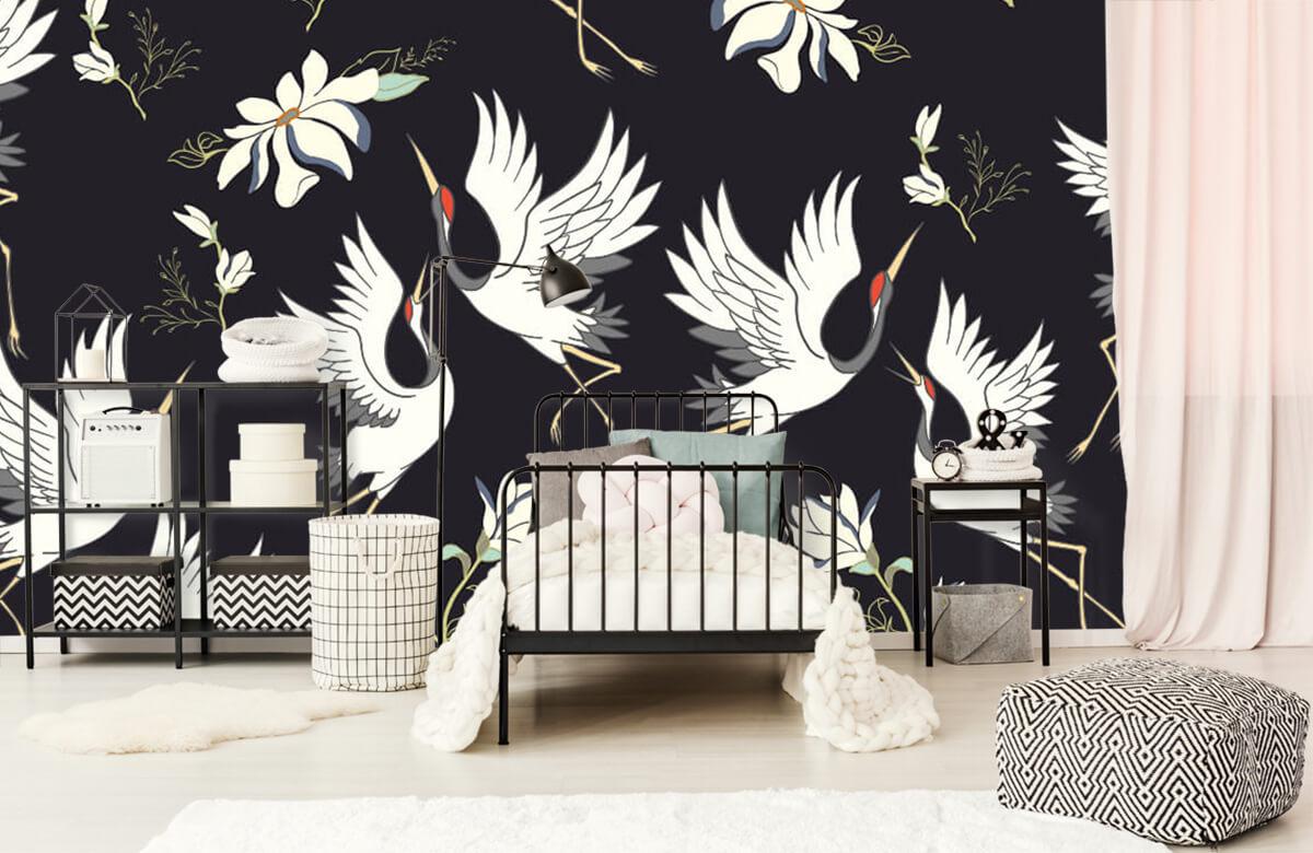 pattern Vliegende kraanvogels patroon 2