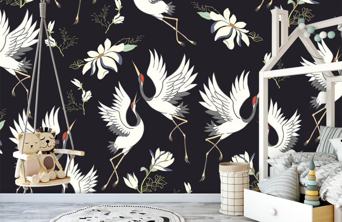 pattern Vliegende kraanvogels patroon 4