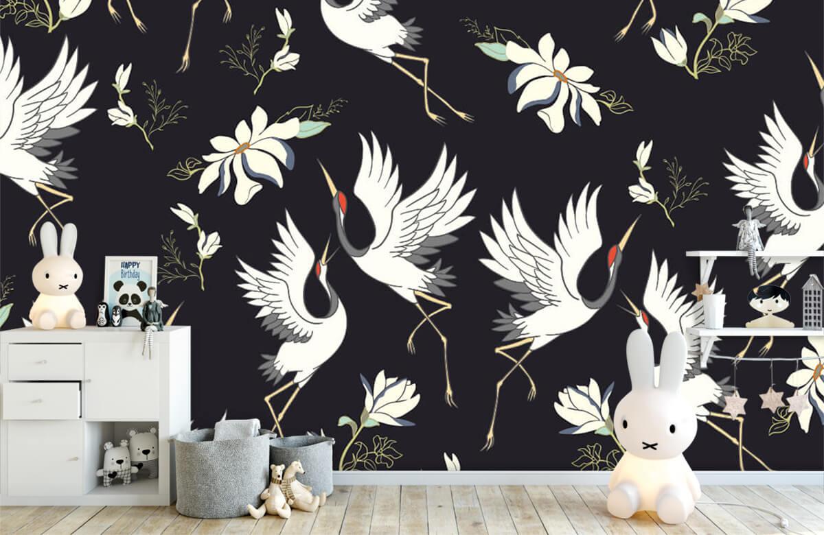 pattern Vliegende kraanvogels patroon 1