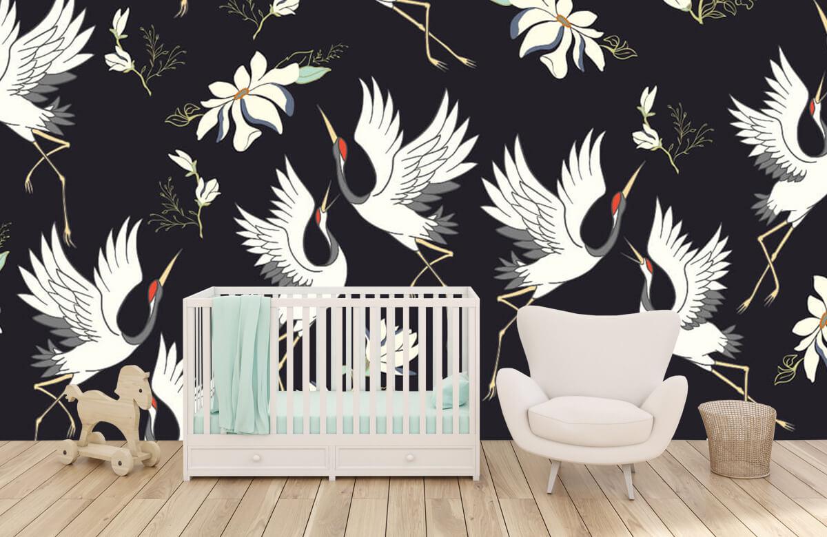 pattern Vliegende kraanvogels patroon 3