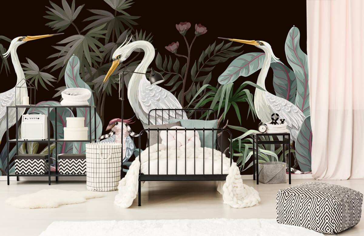 pattern Sierlijke kraanvogels 3