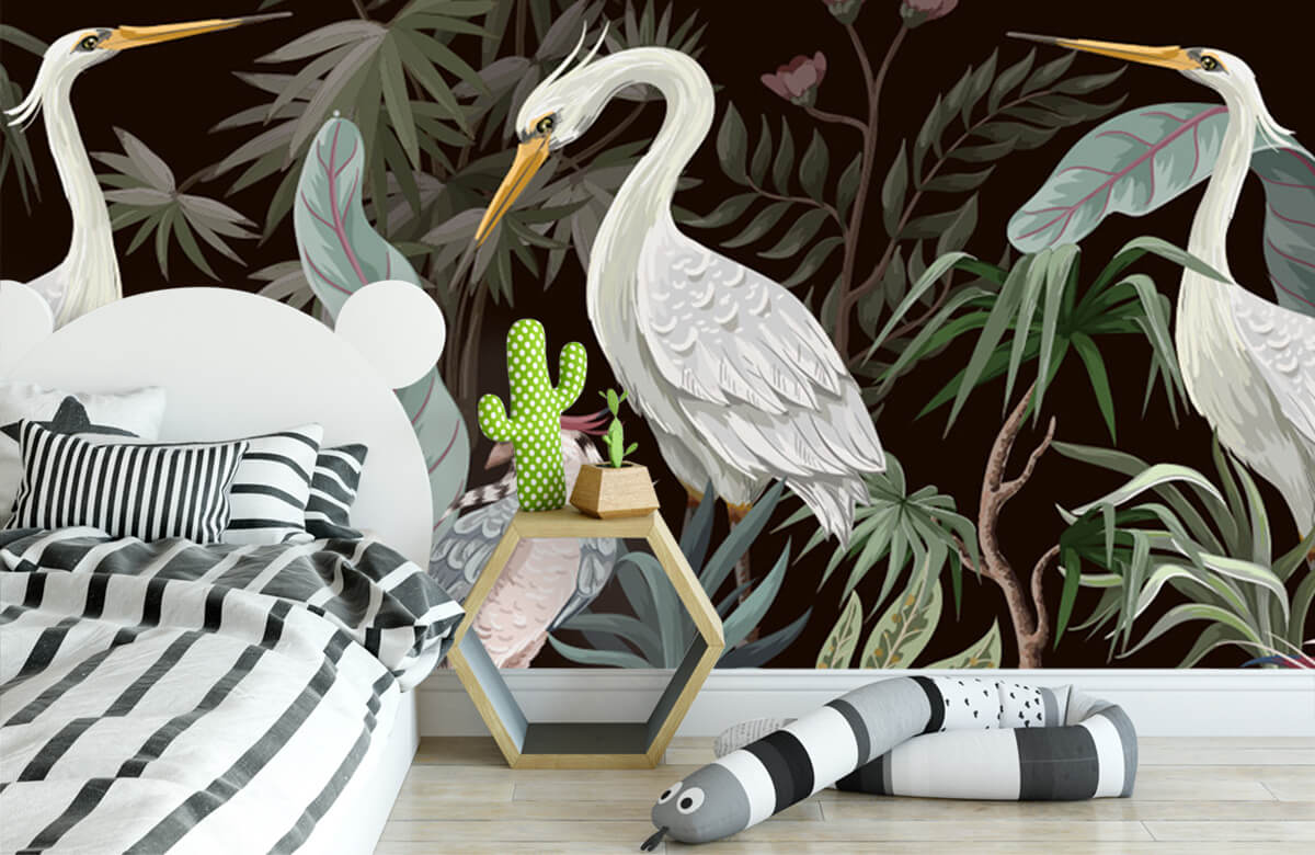 pattern Sierlijke kraanvogels 5