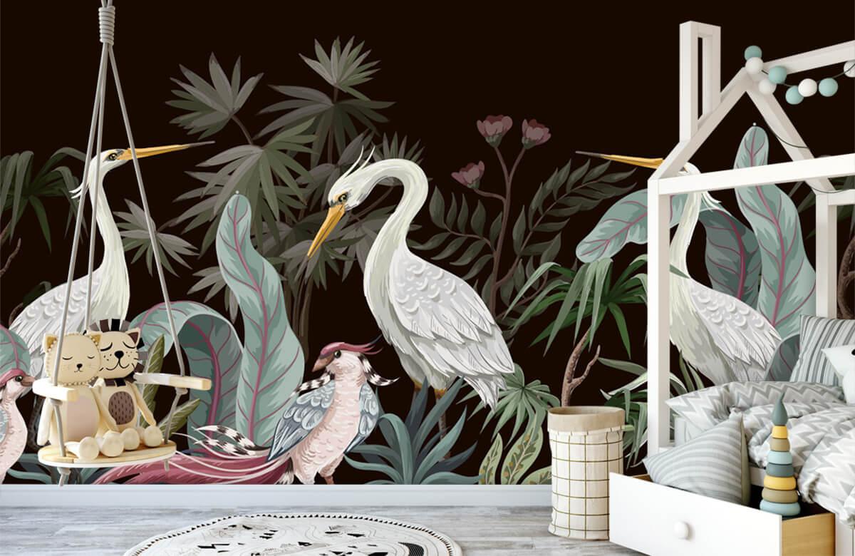 pattern Sierlijke kraanvogels 4