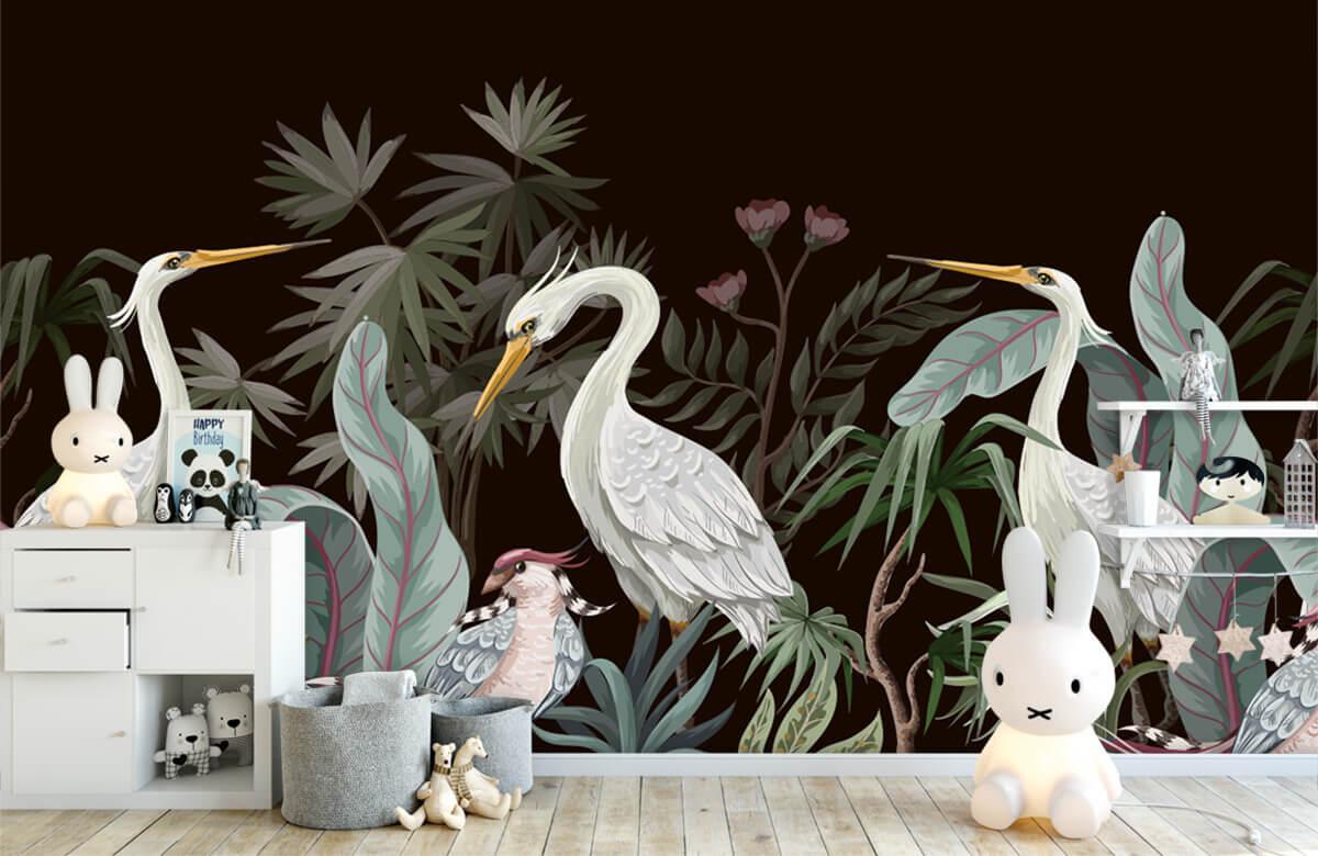 pattern Sierlijke kraanvogels 1