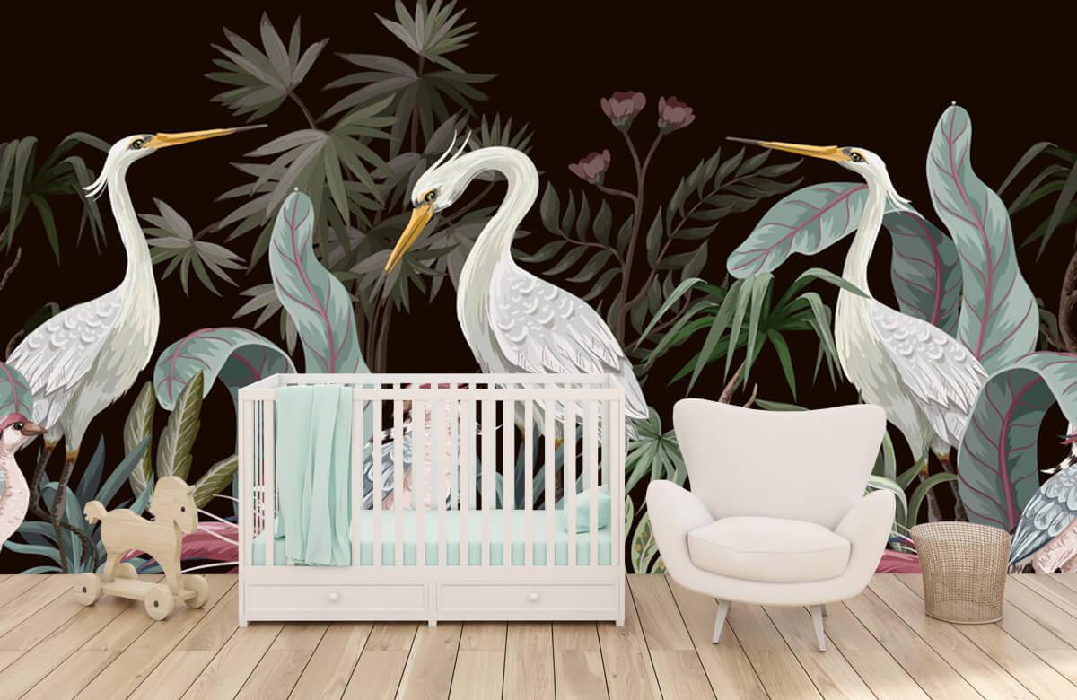 pattern Sierlijke kraanvogels 2