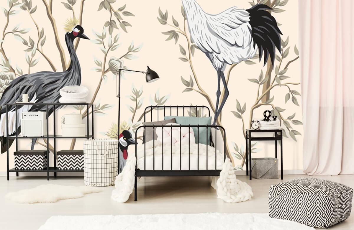 pattern Vintage kraanvogels 1