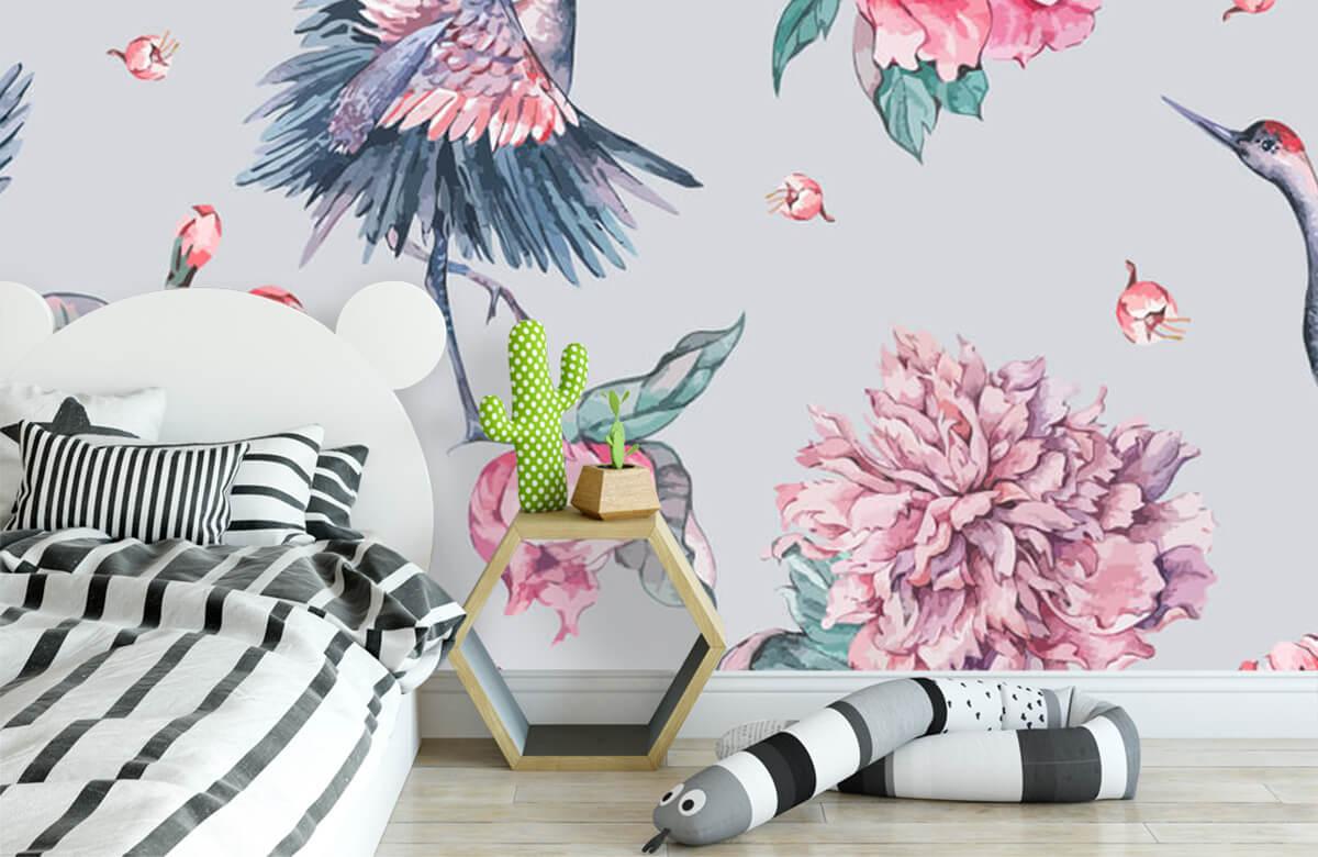 pattern Vrolijke kraanvogels 2