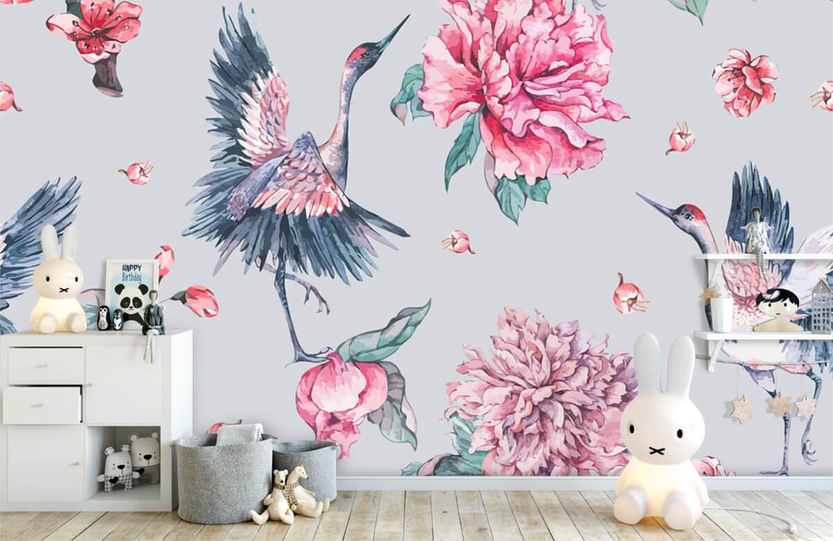 pattern Vrolijke kraanvogels 4