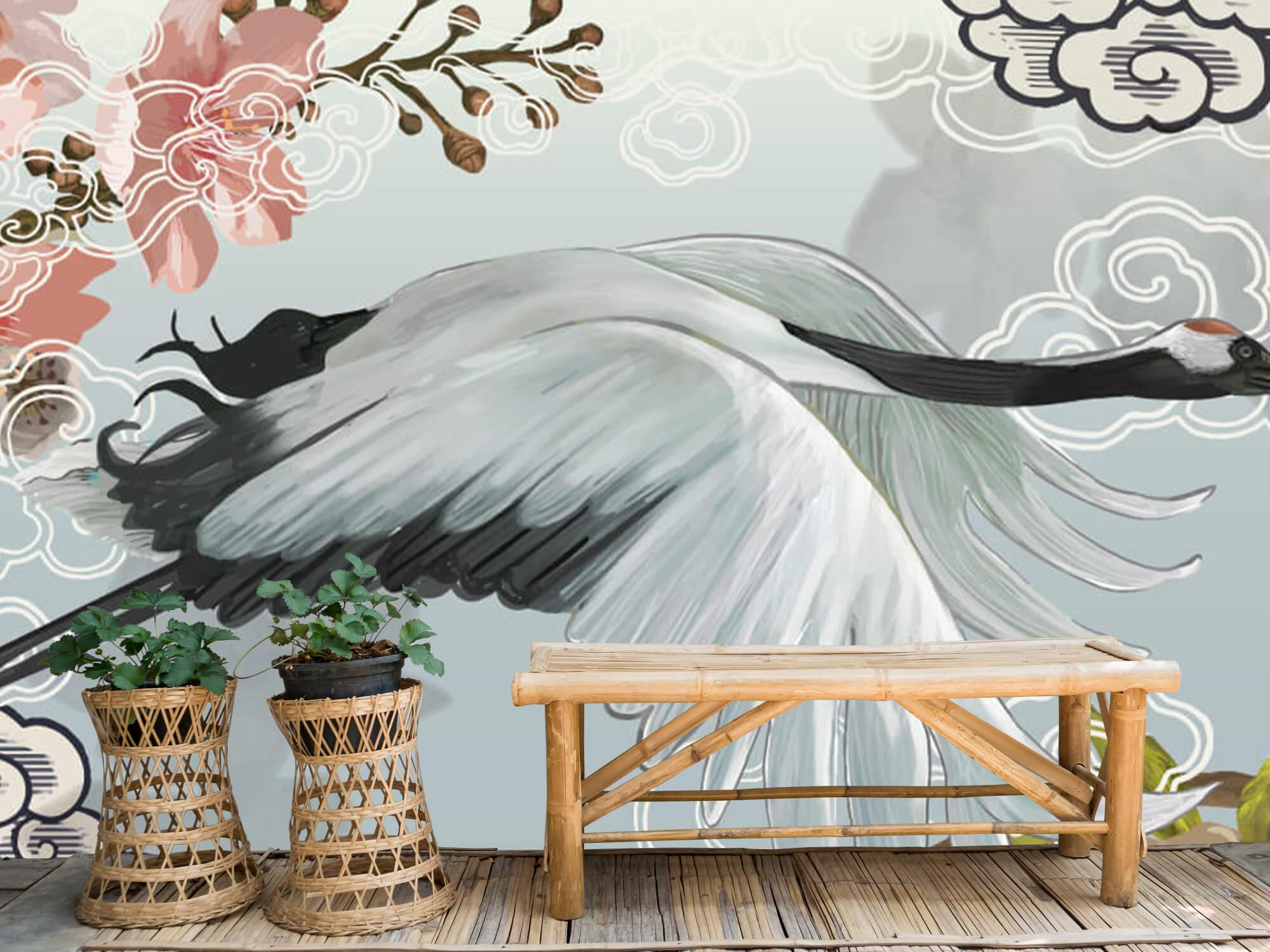 pattern Elegante kraanvogel 1