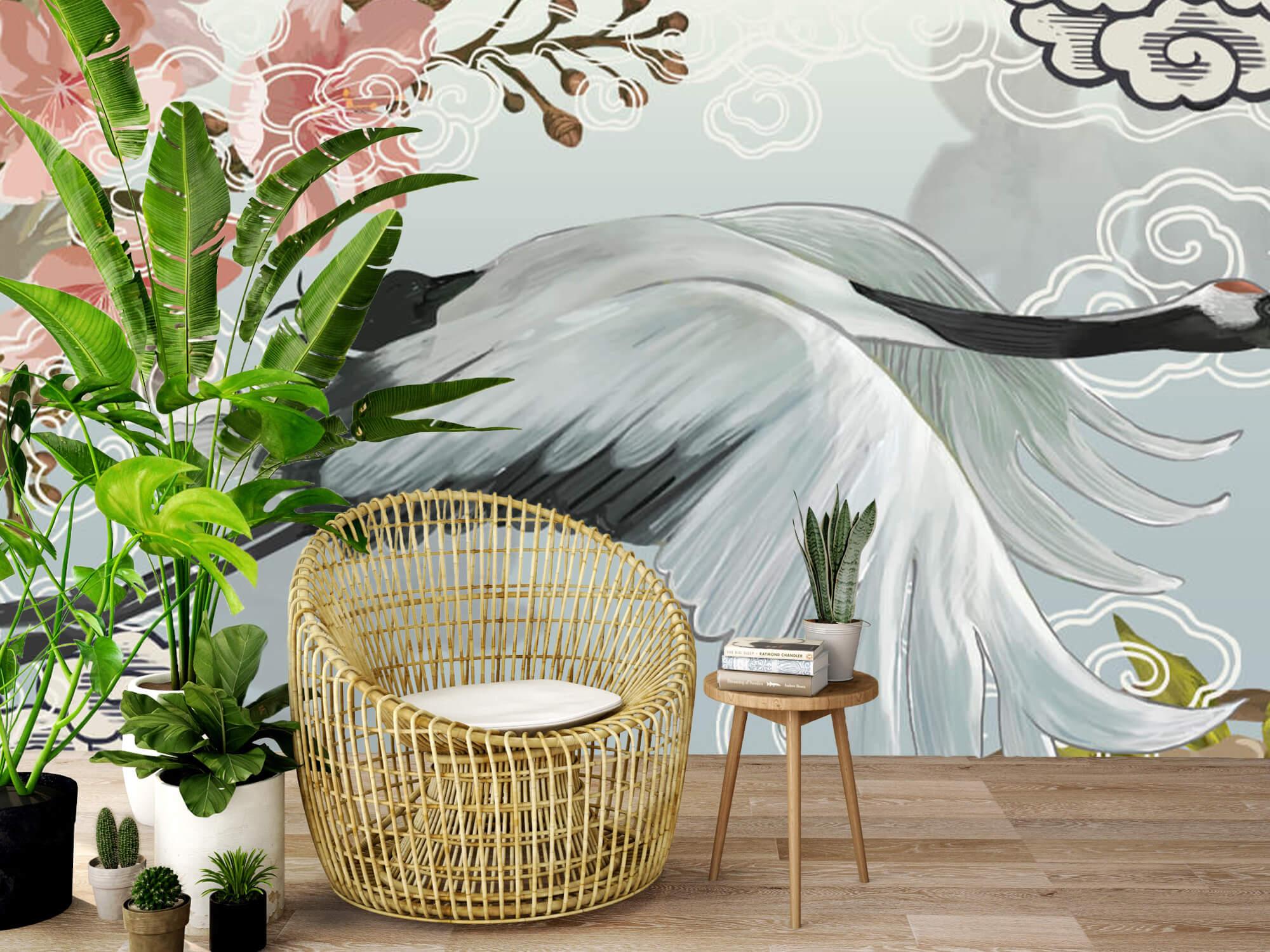 pattern Elegante kraanvogel 3