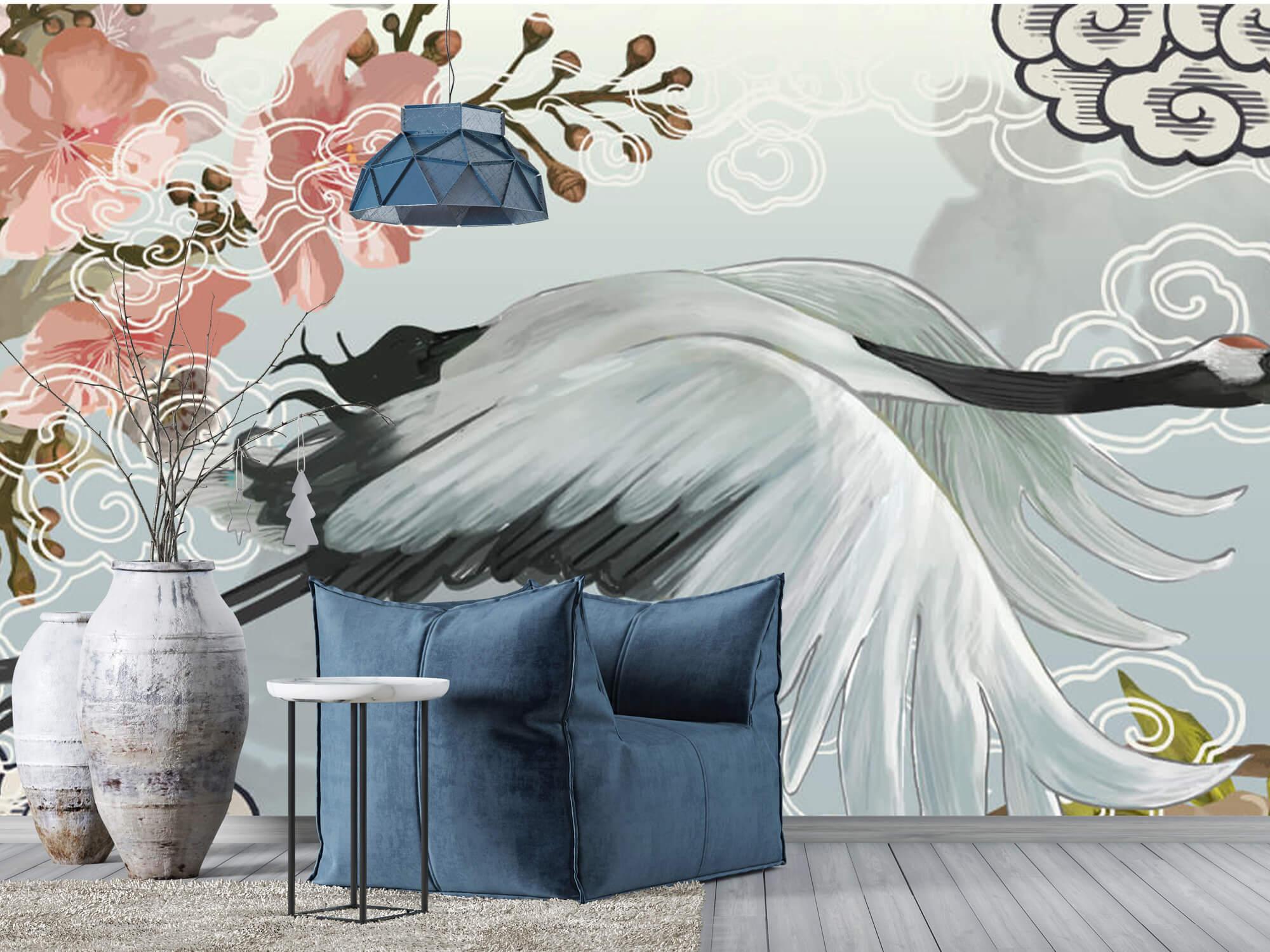pattern Elegante kraanvogel 4