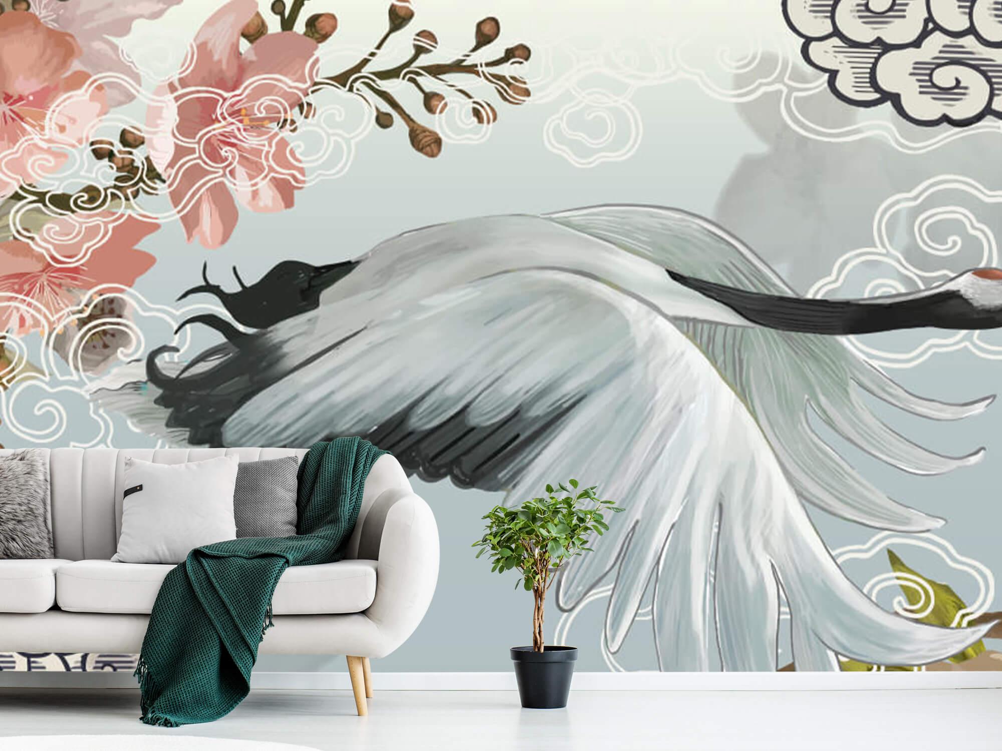 pattern Elegante kraanvogel 8