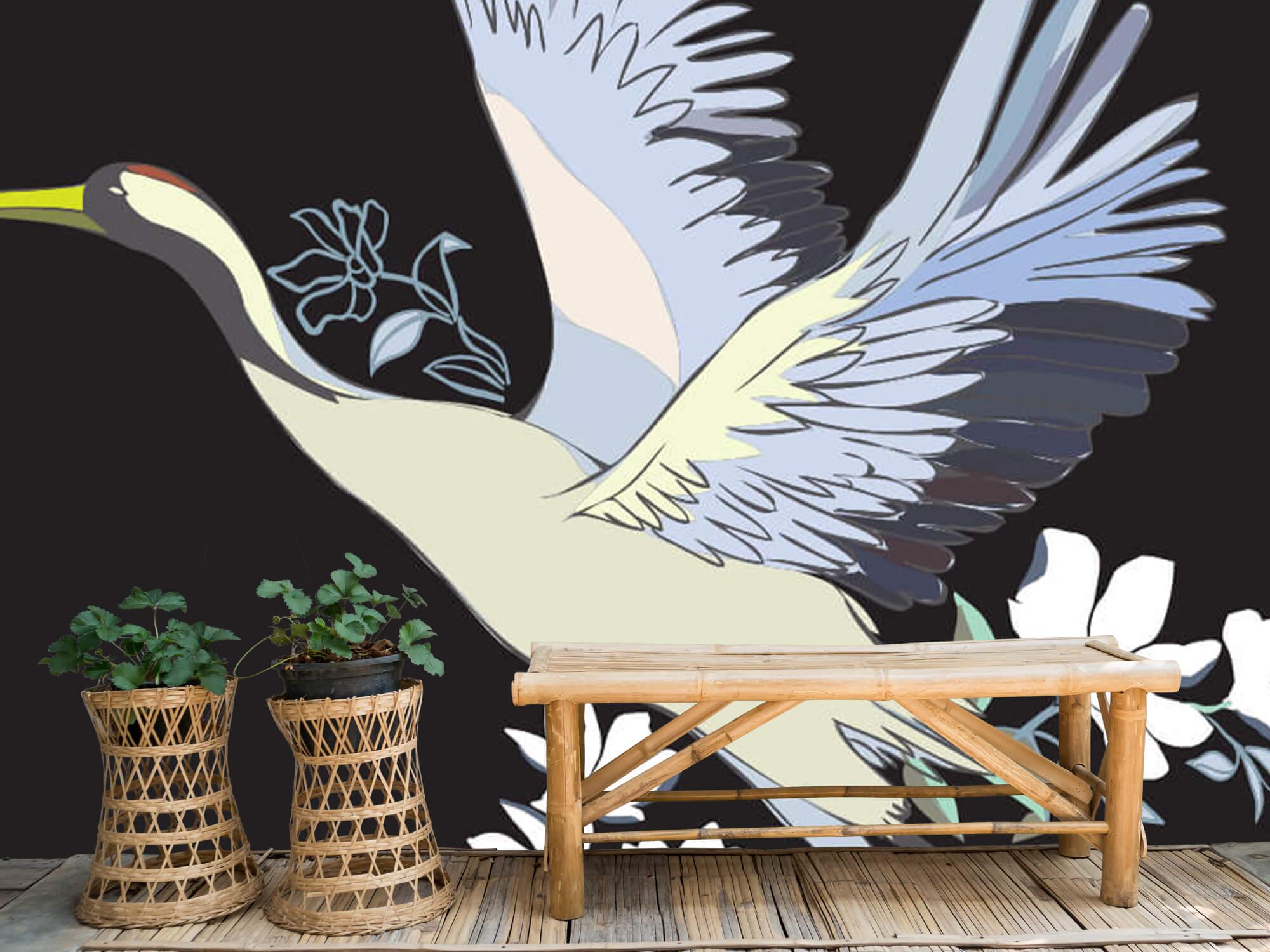 pattern Geverfde kraanvogel 1