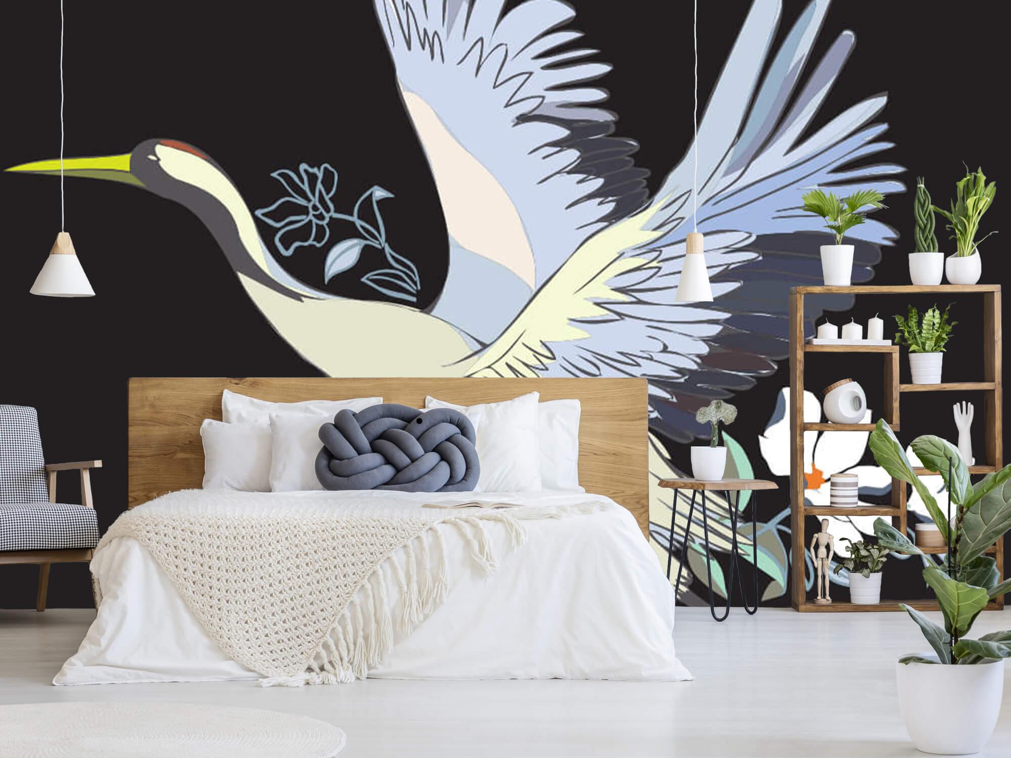 pattern Geverfde kraanvogel 3