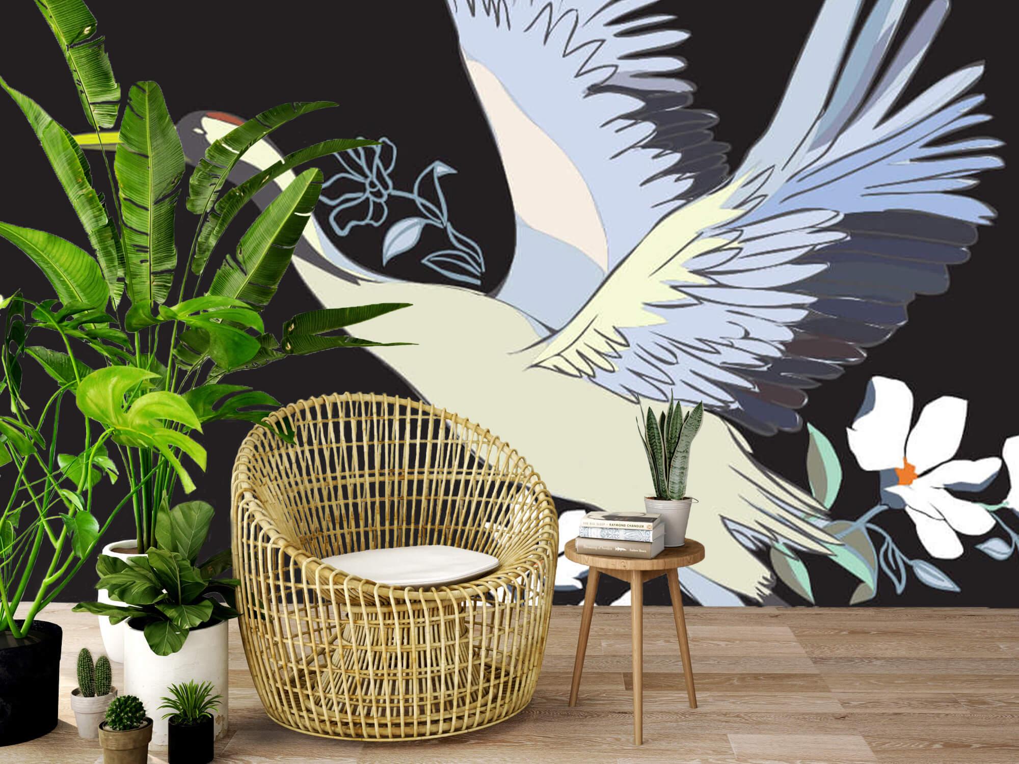 pattern Geverfde kraanvogel 5