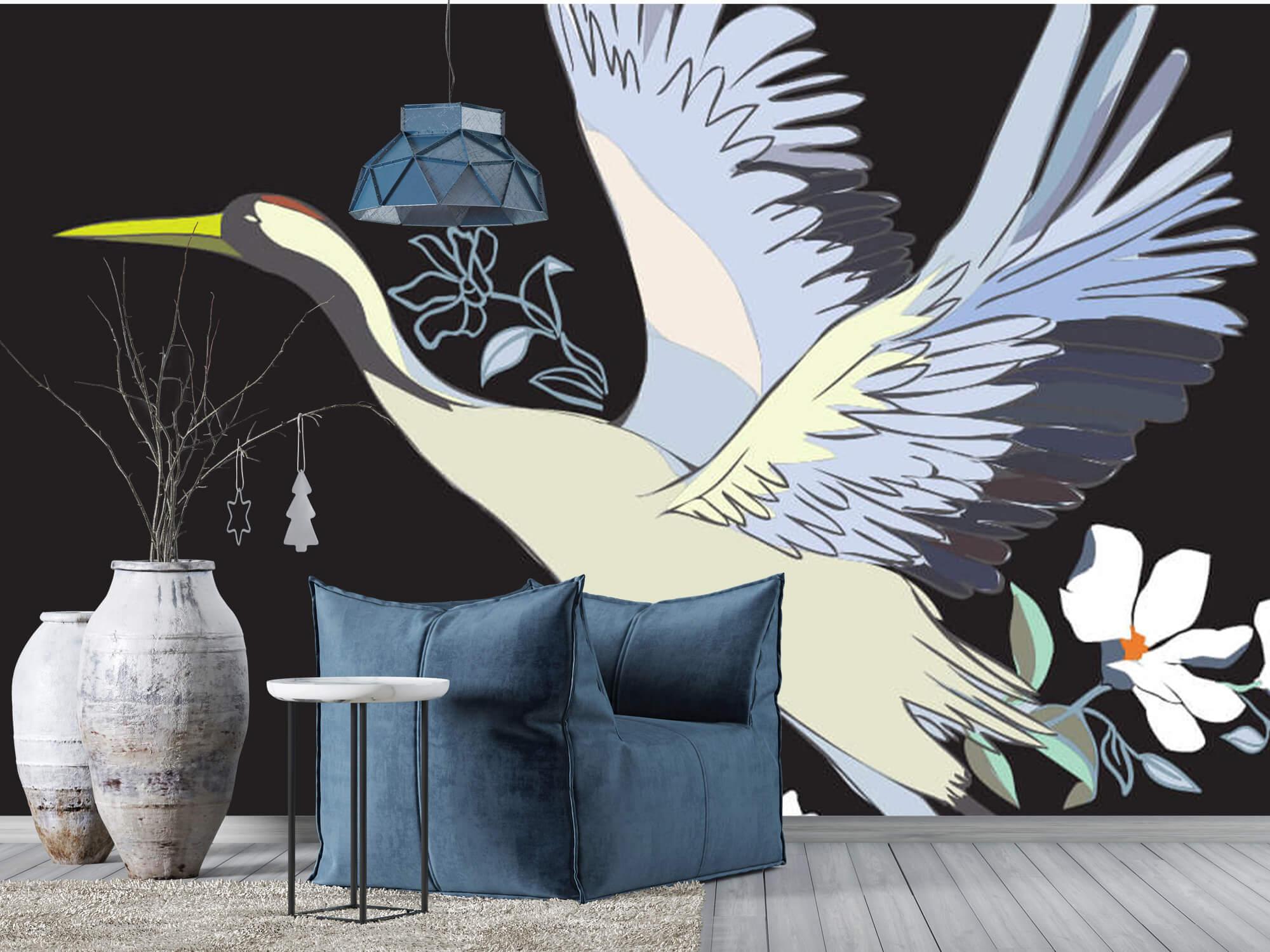 pattern Geverfde kraanvogel 6