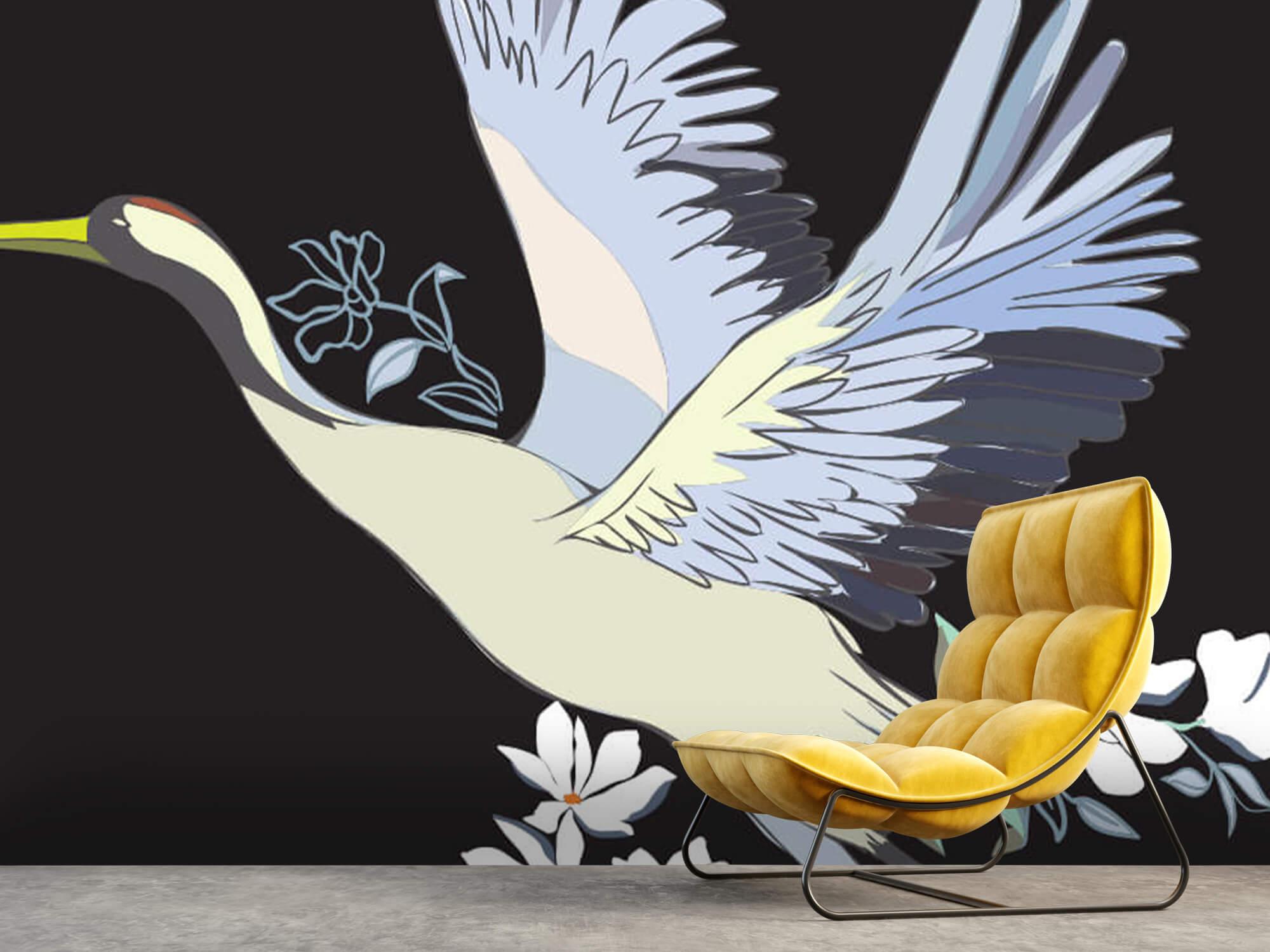 pattern Geverfde kraanvogel 2